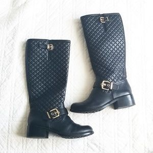 Vince Camuto Wenters quilted leather tall boots